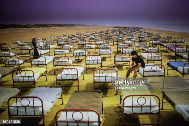 An artwork of the album cover A momentary lapse of Reason released in 1987 is seen during the Pink Floyd exhibition. The Pink Floyd exhibition were...
