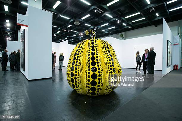 An artwork of Yayoi Kusama is seen during the ART Cologne at Koelnmesse on April 15 2016 in Cologne Germany