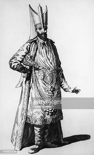 An asci basi an officer and chief cook of the Janissary the Ottoman sultan's household troops circa 1700