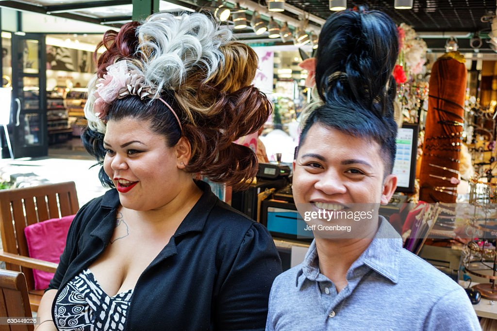 An Asian Man And Woman Wearing Hair Extensions Pictures Getty Images