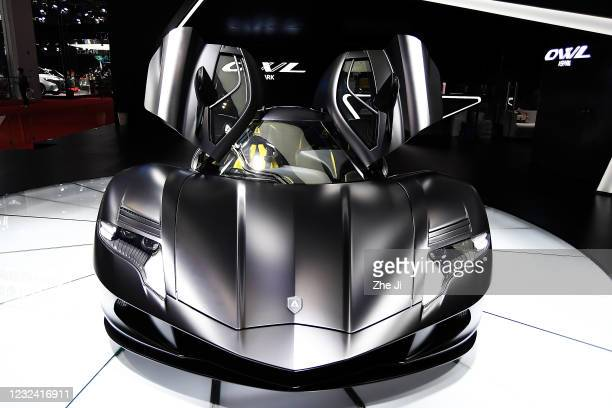 An Aspark Owl All-Electric Supercar is displayed during the 19th Shanghai International Automobile Industry Exhibition, also known as Auto Shanghai...