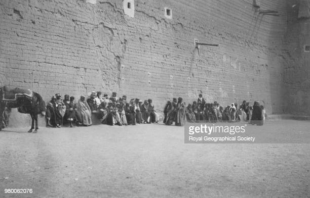 An assembly of Arabs at Hayil Saudi Arabia 1934