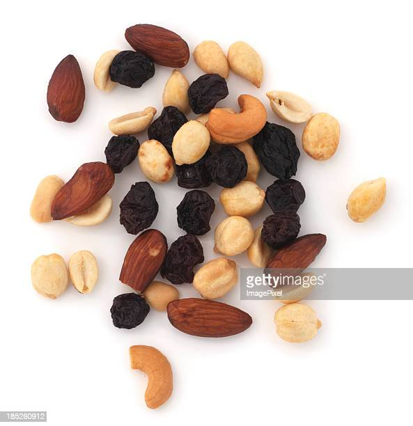 An assortment of mixed nuts with aria