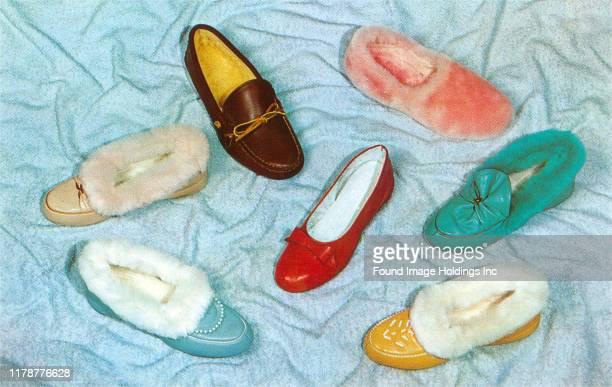 An assortment of slippers