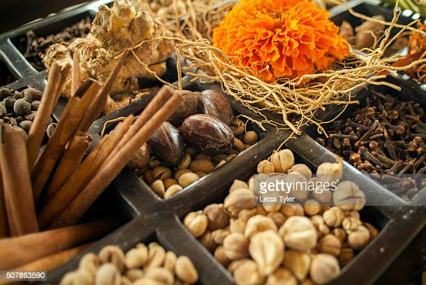 An assortment of spices on Bali