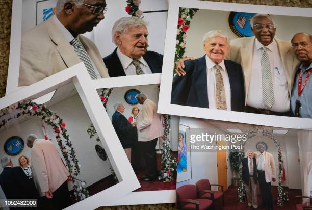 An assortment of wedding photos are pictured Harold Mays and Harold Herman were an interracial gay couple for 50 years Though they recently died...
