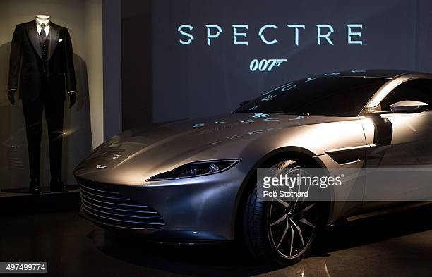 An Aston Martin DB10 produced exclusively for the latest James Bond film Spectre is displayed at the London Film Museum on November 17 2015 in London...