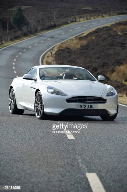 An Aston Martin DB9 sports car on a country road photographed during a shoot for NPhoto Magazine/Future via Getty Images February 15 2013