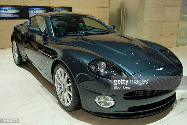 An Aston Martin Vanquish S is seen on the second day of the media preview for the Geneva International Motor Show at the Palexpo conference center in...