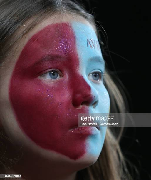 An Aston Villa fan during the Premier League match between Aston Villa and West Ham United at Villa Park on September 16 2019 in Birmingham United...