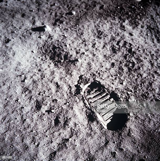 An astronaut's bootprint leaves a mark on the lunar surface July 20 1969 on the moon The 30th anniversary of the Apollo 11 Moon mission is celebrated...