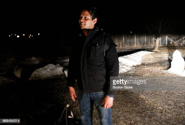 An asylum seeker from Bangladesh smiles as he learns he has made it over the border into Canada in Emerson Manitoba on Mar 24 2017