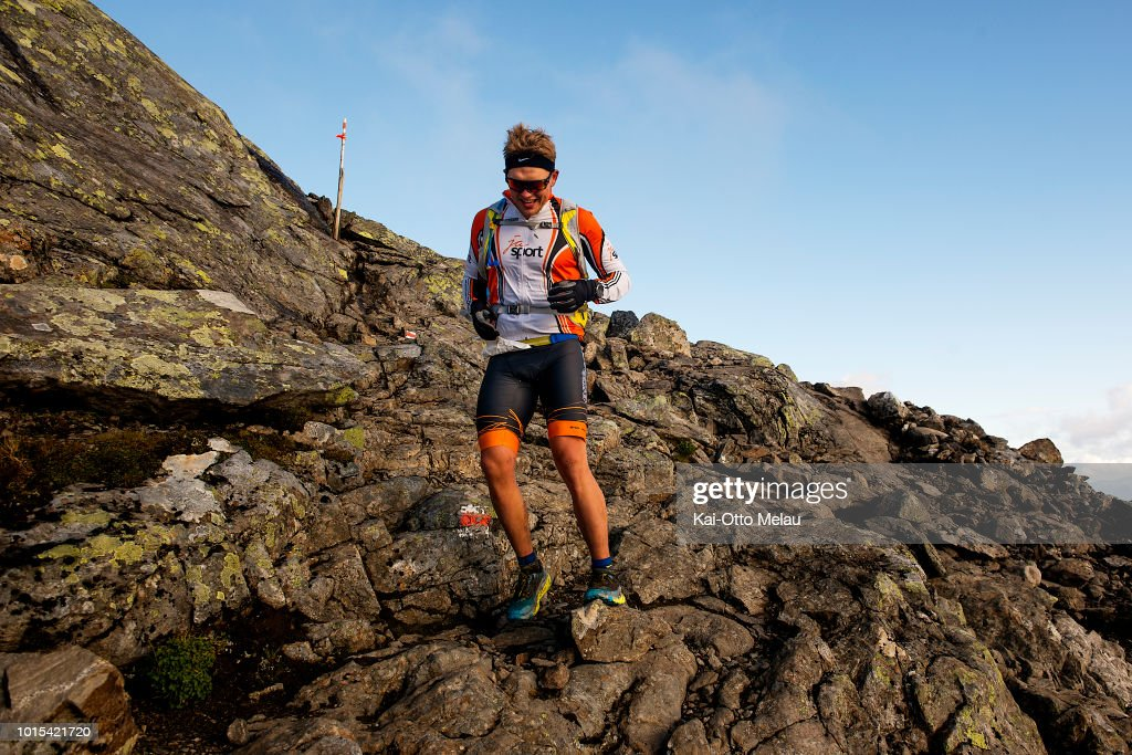 An athlete coming down the mountain at Swedeman Extreme Triathlon on August 11, 2018 in Are, Sweden. Swedeman is part of the Xtri World Tour.