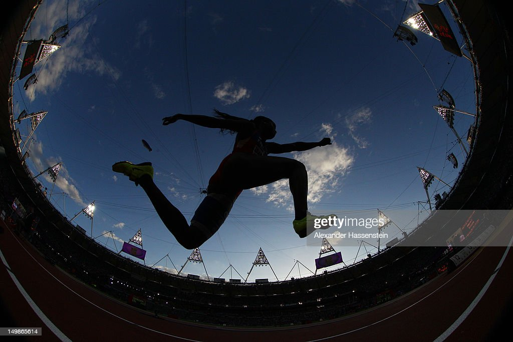 An athlete compete in the Women's Triple Jump Final on Day 9 of the London 2012 Olympic Games at the Olympic Stadium on August 5, 2012 in London, England.