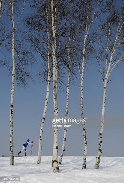 An athlete competes during day three of the PyeongChang 2018 Paralympic Games on March 12, 2018 in Pyeongchang-gun, South Korea.