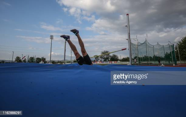 An athlete competes in the final stage of Turkey Athletics Super League and Athletics 1st League in Bursa Turkey on August 20 2019