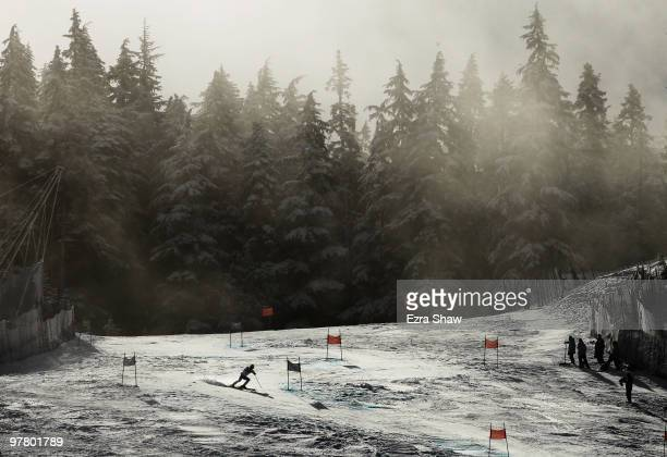 An athlete competes in the Men's Standing Giant Slalom during Day 6 of the 2010 Vancouver Winter Paralympics at Whistler Creekside on March 17 2010...