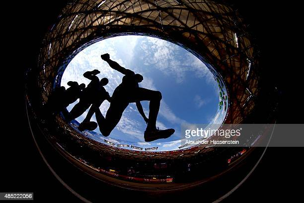 An athlete competes in the Men's Triple Jump qualification during day five of the 15th IAAF World Athletics Championships Beijing 2015 at Beijing...