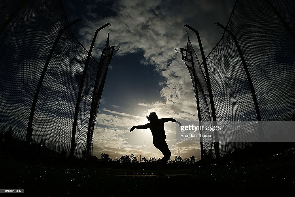 An athlete competes in the Women's Discus Throw during the Hunter Track Classic on February 2, 2013 in Newcastle, Australia.