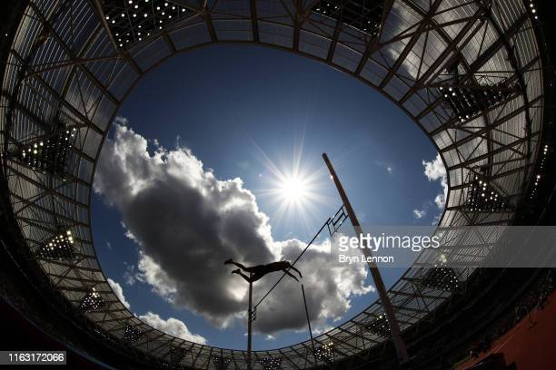 An athlete competes in the Women's Pole Vault during Day One of the Muller Anniversary Games IAAF Diamond League event at the London Stadium on July...