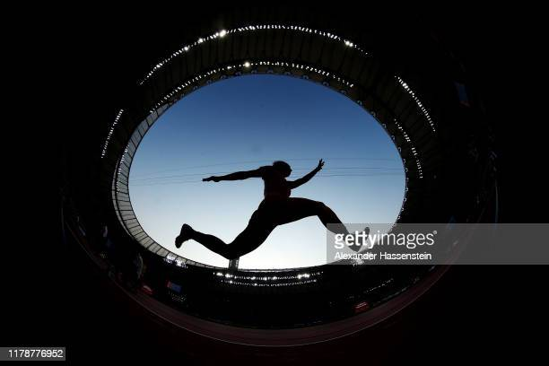 An athlete competes in the Women's Triple Jump Qualification during day seven of 17th IAAF World Athletics Championships Doha 2019 at Khalifa...