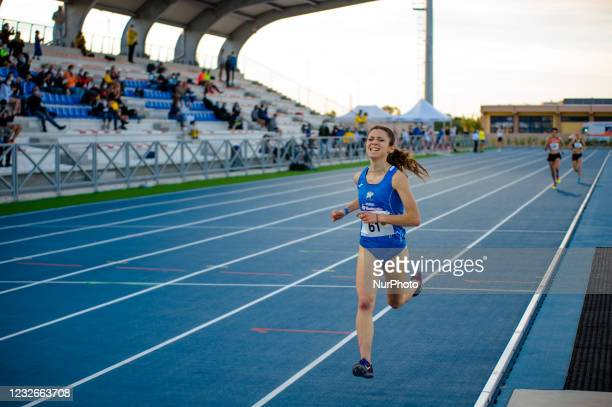 An athlete during the 10,000 meters race at the National Championships in the Mario Saverio Cozzoli stadium in Molfetta on May 2, 2021. In Molfetta,...