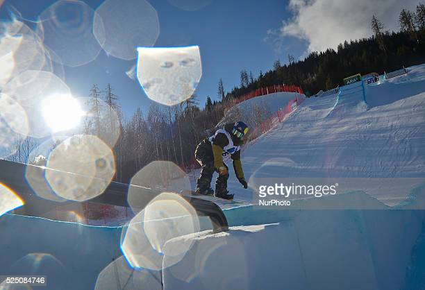 An athlete during the men's Slopestyle Qualification round FIS Freestyle World SKI Championship 2015 in Kreischberg Austria 19 January 2015 Photo by...
