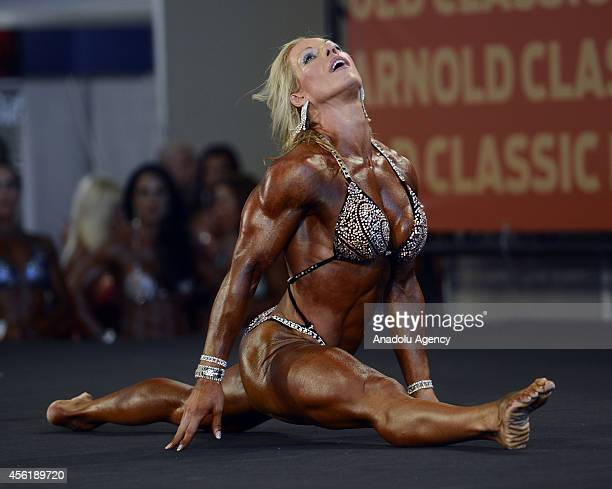 An athlete in action during the Arnold Classic Madrid 2014 in Madrid Spain on September 26 2014