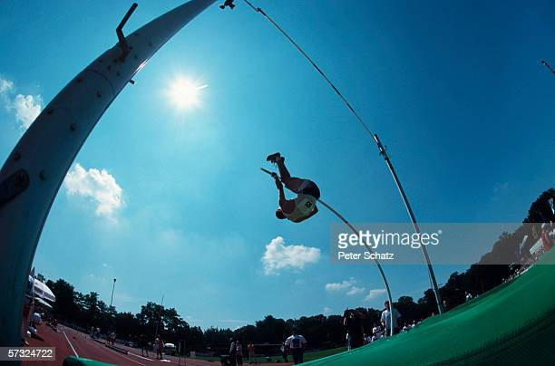 An athlete in action during the International Meeting on July 26 1998 in Ingolstadt Germany