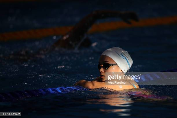 An athlete warms up during the 2019 World Para-swimming Allianz Championships at Aquatics Centre on September 11, 2019 in London, England.