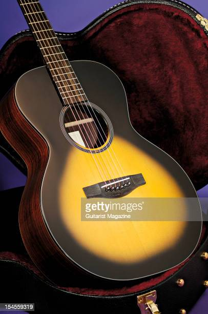 An Atkin AA Standard acoustic guitar during a studio shoot for Guitarist Magazine/Future via Getty Images April 23 2008