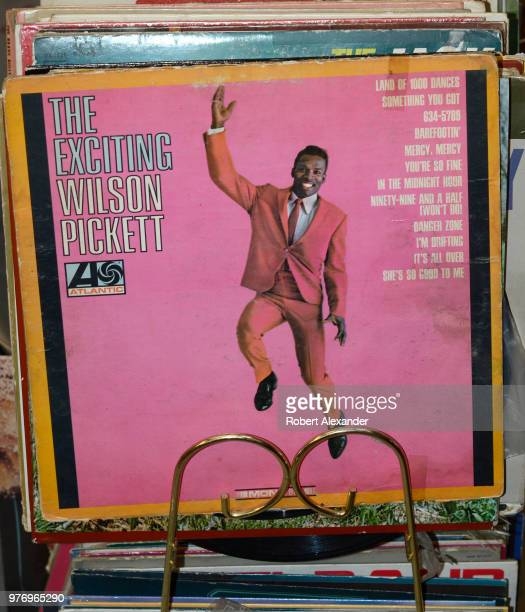 An Atlantic label LP album by RB and soul singer Wilson PIckett titled 'The Exciting Wilson Pickett' released in 1966 for sale in a Santa Fe New...
