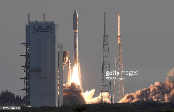 An Atlas V rocket with NASA's Perseverance Mars rover launches from pad 41 at Cape Canaveral Air Force Station. The Mars 2020 mission plans to land...