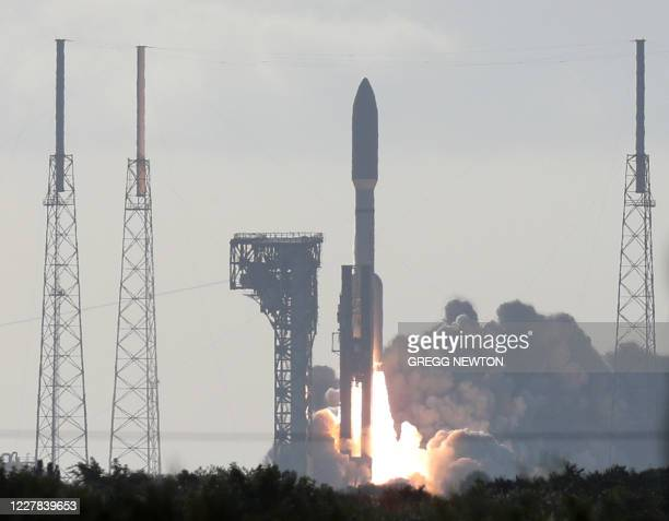An Atlas V rocket with the Perseverance rover lifts off from Launch Complex 41 at Cape Canaveral Air Force Station in Florida on July 30 2020 The...