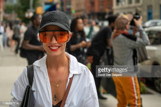 An attendee at Spring Studios during New York Fashion Week on September 8, 2019 in New York City.