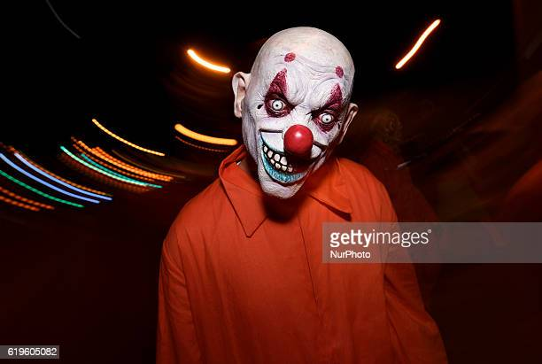 An attendee at the West Hollywood Halloween Carnaval known as the world's largest Halloween street party West Hollywood California October 31 2016...