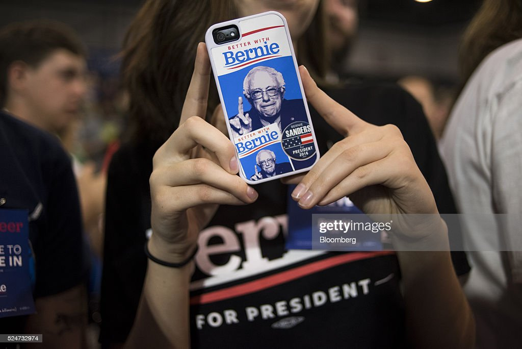 Presidential Candidate Bernie Sanders Holds Election Night Event : News Photo