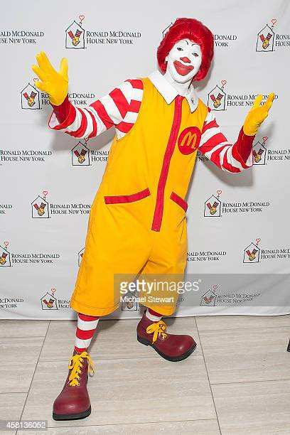 An attendee dressed as Ronald McDonald attends the 2014 Masquerade Ball Benefiting Ronald McDonald House at Apella on October 30 2014 in New York City