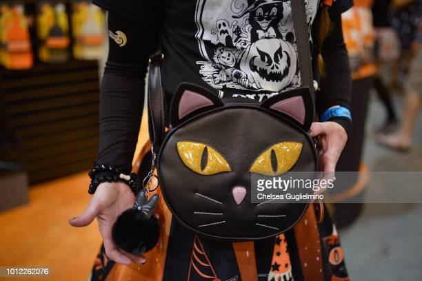 An attendee fashion detail attends CatCon Worldwide 2018 at Pasadena Convention Center on August 4 2018 in Pasadena California