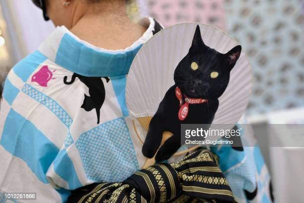 An attendee fashion detail seen at CatCon Worldwide 2018 at Pasadena Convention Center on August 4 2018 in Pasadena California
