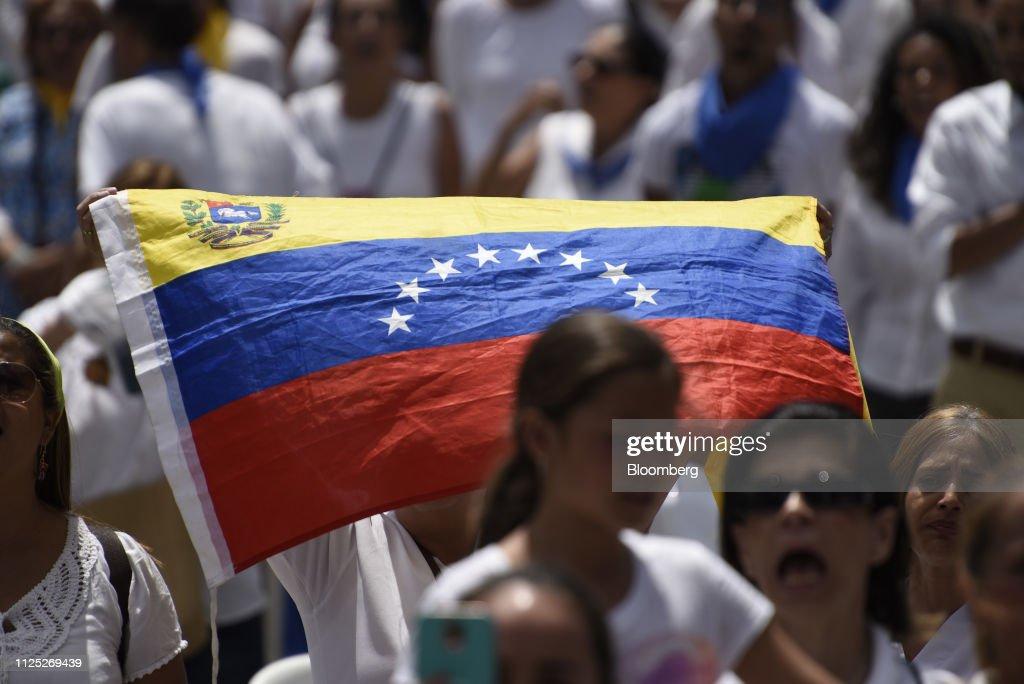 VEN: National Assembly President Juan Guaido Swears In Humanitarian Aid Volunteers