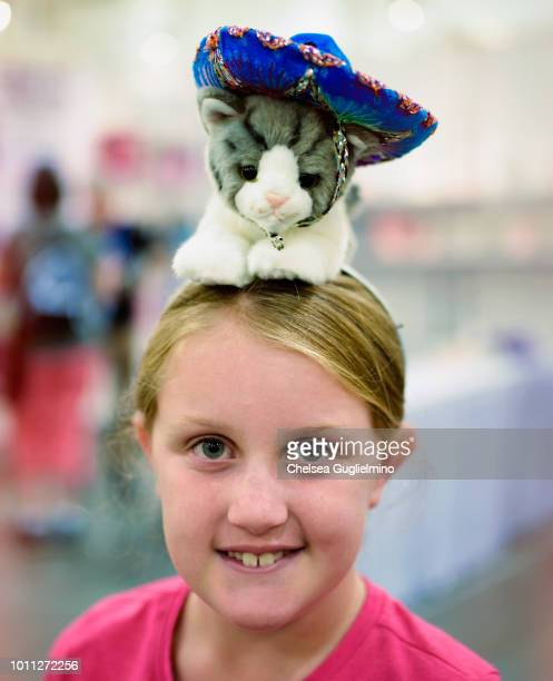 An attendee poses at CatCon Worldwide 2018 at Pasadena Convention Center on August 4 2018 in Pasadena California