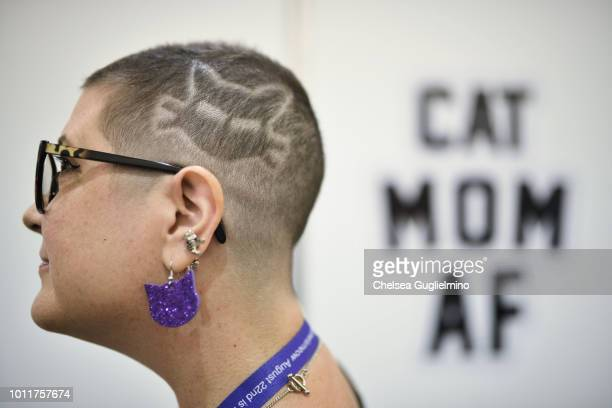 An attendee poses at CatCon Worldwide 2018 at Pasadena Convention Center on August 5 2018 in Pasadena California