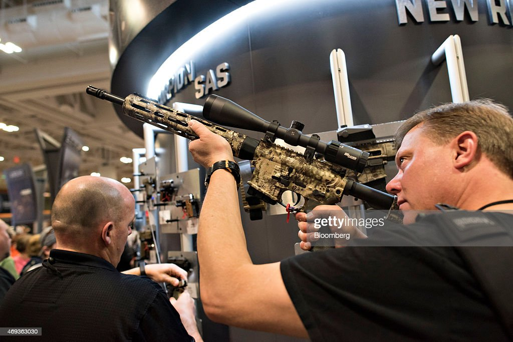 Inside the National Rifle Association (NRA) Annual Meetings & Exhibits : News Photo