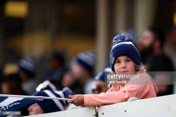 An Auckland fan during the Mitre 10 Cup Final between Auckland and Tasman at Eden Park on November 28, 2020 in Auckland, New Zealand.