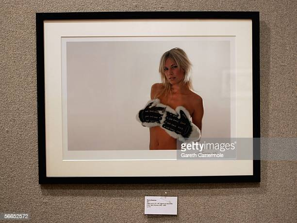 An auction lot by contributing artist Harry Soames is seen ahead of the Love At First Sight reception and auction at Bonhams on January 23, 2006 in...