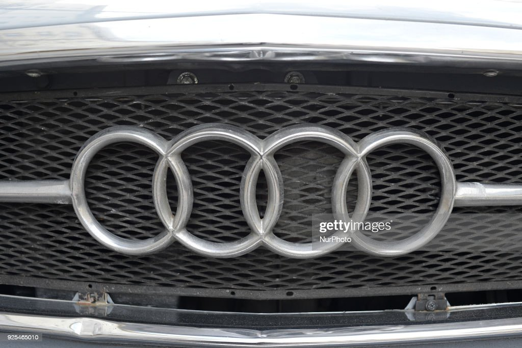 An Audi 60 is seen parked in central Warsaw on February 27, 2018. The Audi 60 was one of the first post war Audis sold. The Audi 60 has a Mercedes engine and nearly half a million units were produced between 1965 and 1972.