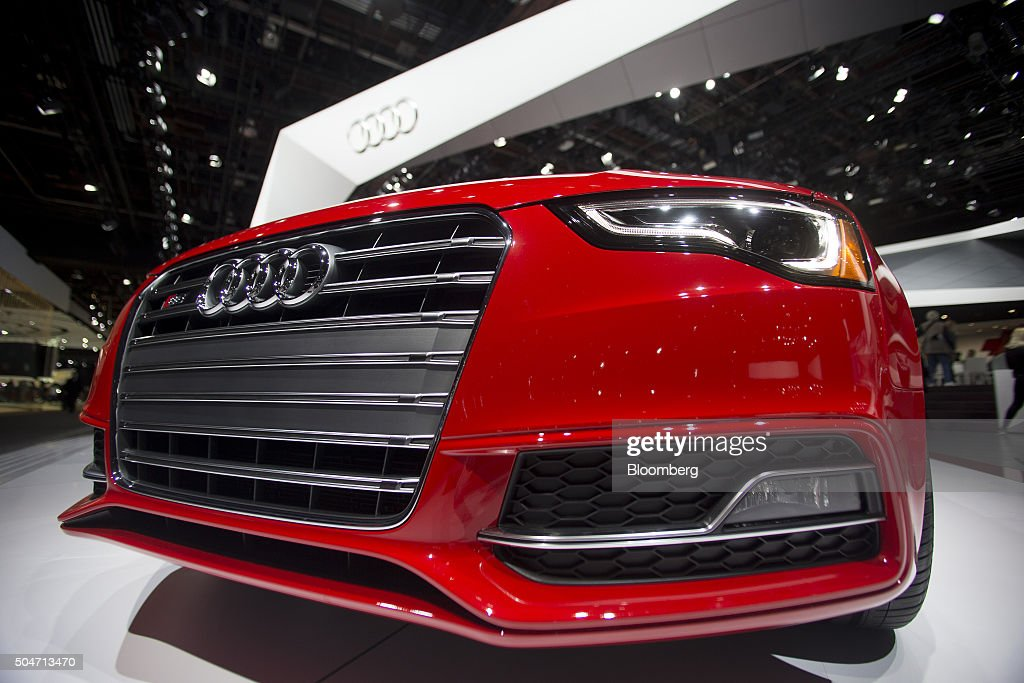 An Audi AG S5 vehicle sits on display during the 2016 North American International Auto Show (NAIAS) in Detroit, Michigan, U.S., on Tuesday, Jan. 12, 2016. Last year's auto show featured 55 vehicle introductions, a majority of which were worldwide debuts, and was attended by over 5,000 journalists from 60 countries. Photographer: Andrew Harrer/Bloomberg via Getty Images