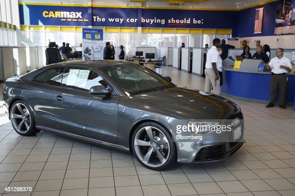 an audi ag vehicle is displayed for sale as customers shop. Black Bedroom Furniture Sets. Home Design Ideas