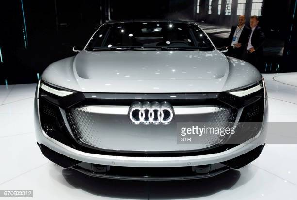 An Audi etron Sportback Concept car is displayed during the second day of the 17th Shanghai International Automobile Industry Exhibition in Shanghai...